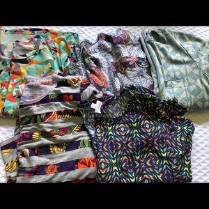 Lot of 5 Medium Lularoe Carly dresses